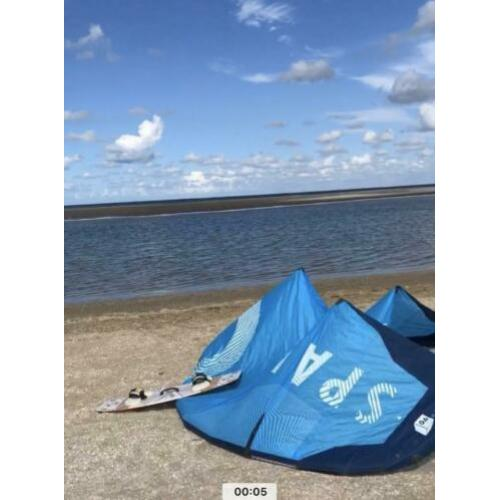 kite + bar + board + bindingen + evt pomp