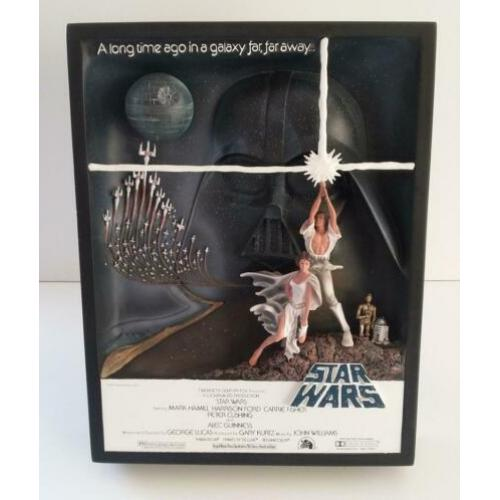 Star Wars Code 3 Collectible New Hope Sculpture Movie Poster
